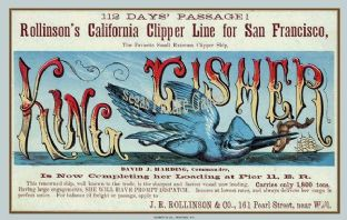 Clipper Ship - King Fisher (Advertisement)